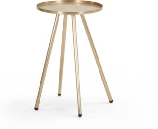 An Image of Alana Bedside Table, Brushed Brass