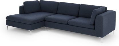 An Image of Monterosso Left Hand Facing Chaise End, Storm Blue