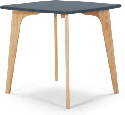 An Image of Fjord Compact Dining Table, Oak and Blue