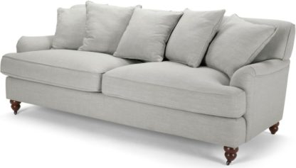 An Image of Orson 3 Seater Sofa, Scatterback, Chic Grey
