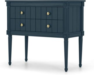 An Image of Bourbon Vintage cabinet, Dark Blue and Brass