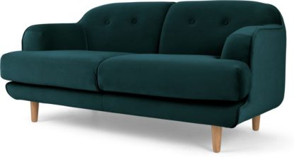 An Image of Gracie 2 Seater Sofa, Seafoam Blue Velvet