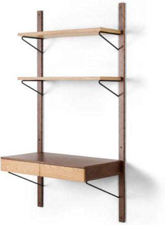 An Image of Jory Modular Desk, Walnut and Oak