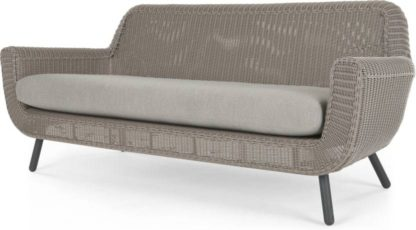 An Image of Jonah Garden 3 Seater Sofa, Light Grey