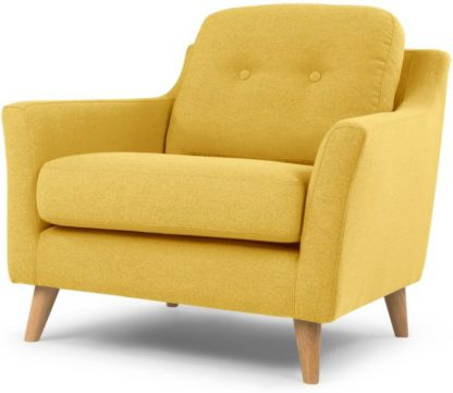An Image of Rufus Armchair, Mustard Yellow