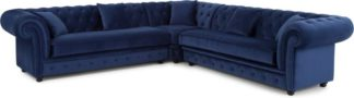 An Image of Branagh Corner Sofa, Electric Blue Velvet