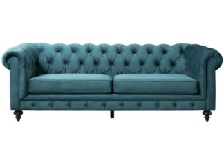 An Image of Monty Three Seat Sofa - Peacock