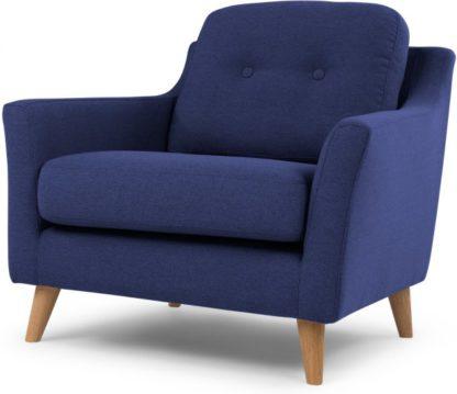 An Image of Rufus Armchair, Dark Cobalt Blue