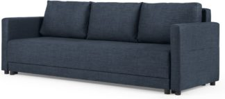 An Image of MADE Essentials Brock Platform Sofabed, Navy