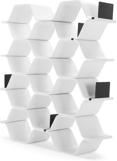 An Image of Polygon Shelving Unit, White