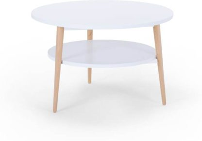 An Image of Marcos Compact Coffee Table, Natural and White