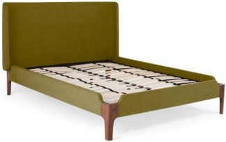 An Image of Roscoe Double Bed, Olive Green