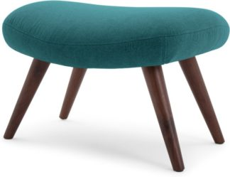 An Image of Moby Footstool, Mineral Blue