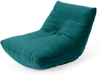 An Image of Audrie Bean Bag Chair, Seafoam Blue Velvet