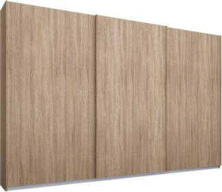 An Image of Malix 3 door 270cm Sliding Wardrobe, Oak frame,Oak doors, Standard Interior