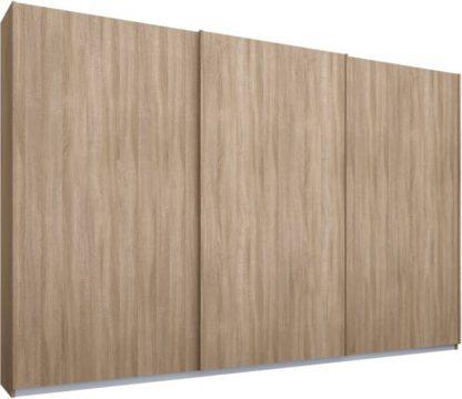An Image of Malix 3 door 270cm Sliding Wardrobe, Oak frame,Oak doors, Standard Interior
