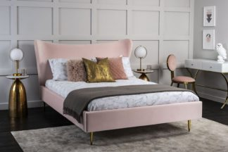 An Image of Tretton Deluxe Bed Pink
