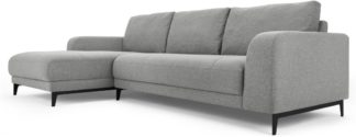 An Image of Luciano Left Hand Facing Chaise End Corner Sofa, Mountain Grey