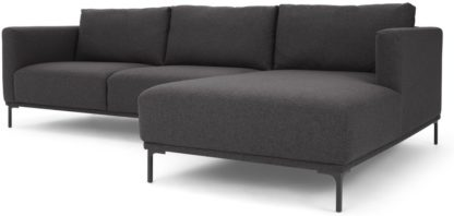 An Image of Milo Right Hand Facing Chaise End Corner Sofa, Space Grey