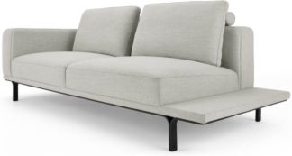 An Image of Nocelle 3 Seater Sofa with Side Table, Chic Grey