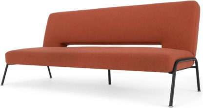 An Image of Knox Click Clack Sofa Bed, Retro Orange