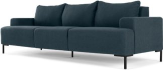An Image of MADE Essentials Oskar 3 Seater Sofa, Aegean Blue