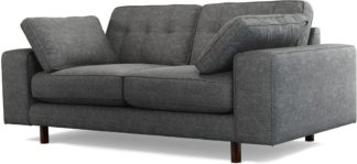 An Image of Content by Terence Conran Tobias, 2 Seater Sofa, Textured Weave Slate, Dark Wood Leg