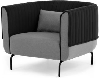 An Image of Bienno Armchair, Kestrel and Whisper Grey Wool Mix