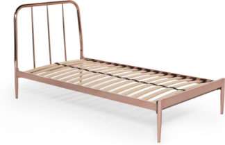An Image of Alana single bed, copper