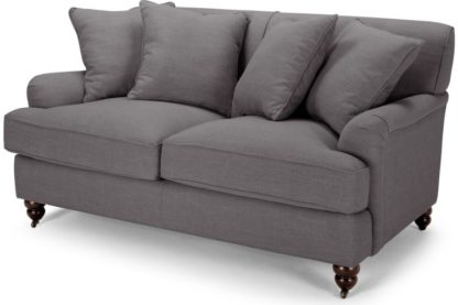 An Image of Orson 2 Seater Sofa, Scatterback, Graphite Grey