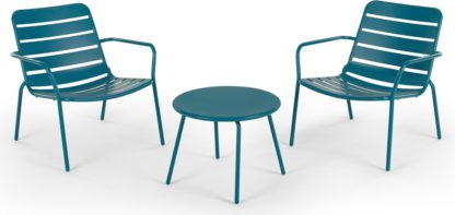 An Image of MADE Essentials Tice Apperitif Set, Teal