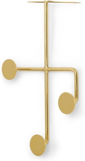 An Image of Bran Over The Door Hooks, Brushed Brass