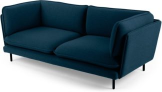 An Image of Wes 3 Seater Sofa, Elite Teal