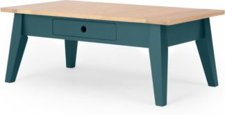 An Image of Ralph Coffee Table with Storage, Oak and Teal