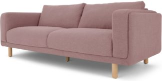 An Image of Karson 3 Seater Sofa, Mina Pink
