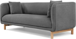 An Image of Becca 3 Seater Sofa, Marl Grey