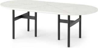 An Image of Tanaro Coffee Table, White Marble and Brass