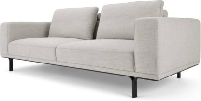 An Image of Nocelle 3 Seater Sofa, Chic Grey