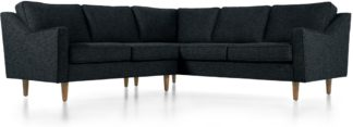 An Image of Dallas Corner Sofa, Textured Weave Navy