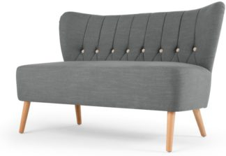 An Image of Charley 2 Seater Sofa, Graphite Grey