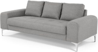An Image of Vittorio 3 Seater Sofa, Pearl Grey