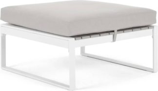 An Image of Catania Garden Modular Ottoman, White and Polywood