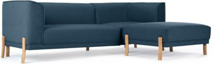 An Image of Magnus Right Hand Facing Corner Sofa Group, Orleans Blue