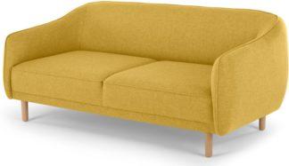 An Image of Haring 3 Seater Sofa, Retro Yellow
