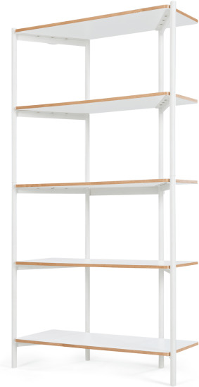 An Image of MADE Essentials Mino Tall Shelves, White