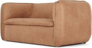 An Image of Berko 2 Seater Sofa, Tan Leather