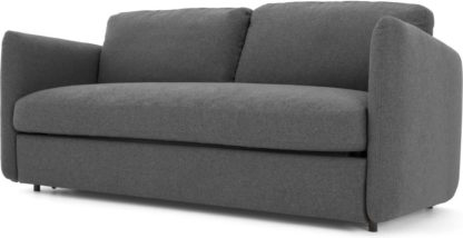 An Image of Fletcher 3 Seater Sofabed with Pocket Sprung Mattress, Marl Grey