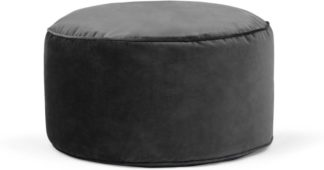 An Image of Lux Velvet floor cushion, Grey Velvet
