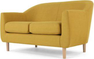 An Image of Tubby 2 Seater Sofa, Retro Yellow
