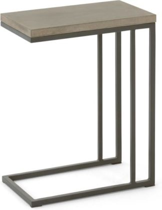 An Image of Edson Garden Side Table, Cement and Metal